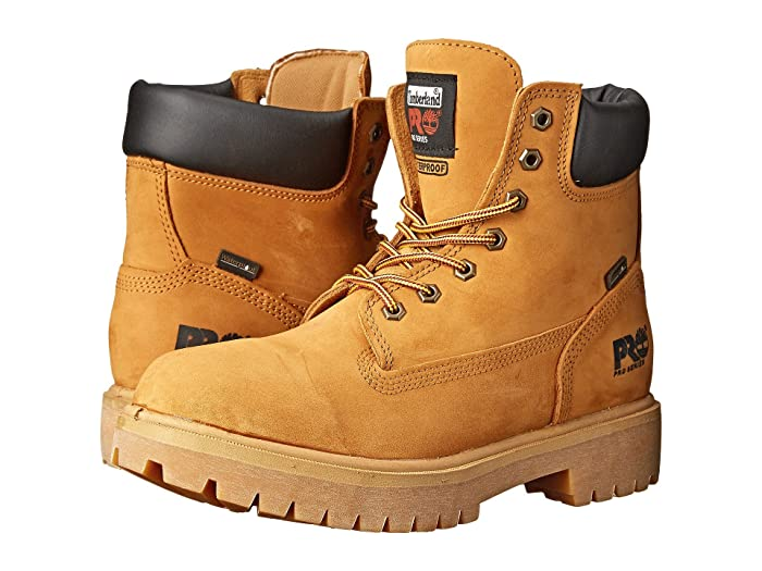 Timberland PRO  Direct Attach 6 Soft Toe (Wheat Nubuck Leather) Mens Work Lace-up Boots