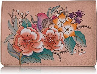 Anna by Anuschka Women`s Handpainted Leather Two Fold Wallet on a String