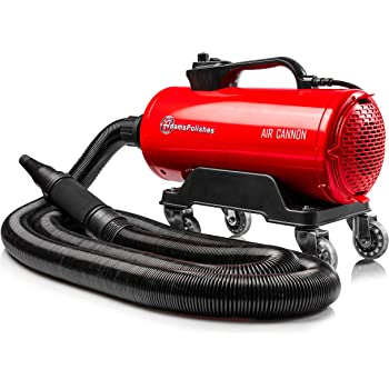 Adam's Air Cannon Car Dryer - High Powered Filtered Car Wash Blower | Dry Before Car Cleaning, Car Detailing, Car Wax, or Ceramic Coating | Auto Tool Kit | 320 CPM Dual Motor | Gift Boat RV Motorcycle
