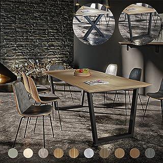 Artforma Table à Manger | Choix de la Longueur du Plateau de 160 à 220 cm, Largeur 90 cm, Hauteur 80 cm | 10 essences de B...