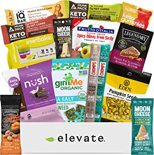 KETO Snack Box Care Package [15 Count] Mix Of Low Carb (5g or less), Low Sugar (2g or less), Gluten Free Snacks, A Gift Bo...