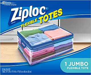 Ziploc Flexible Totes Clothes and Blanket Storage Bags for Closet Organization, Jumbo, 1 Count