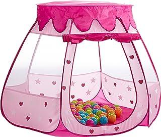 Bieco Siva22008604 prinsessor barntält för inomhus | inklusive 100 bollar | prinsessa | tält barn | lektält flickor | Prin...
