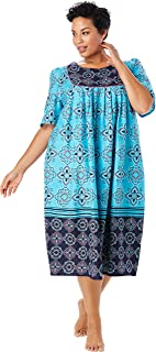 Only Necessities Women's Plus Size Mixed Print Short Lounger