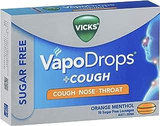 Vicks VapoDrops + Cough Sugar Free Orange Menthol 16 Lozenges