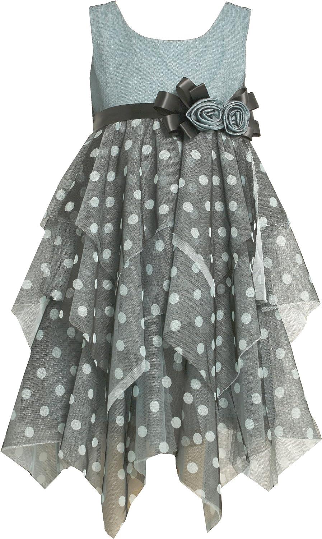 Bonnie Jean Little Girls' Tiered Mesh Dot Dress