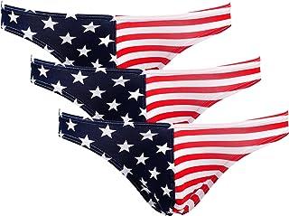 ONEFIT Mens Flag Underwear Cotton Briefs American Flag Underwear 3Pack