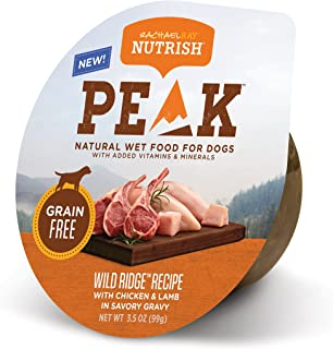Rachael Ray Nutrish PEAK Wet Dog Food, 3.5 Ounce Tubs, Grain Free
