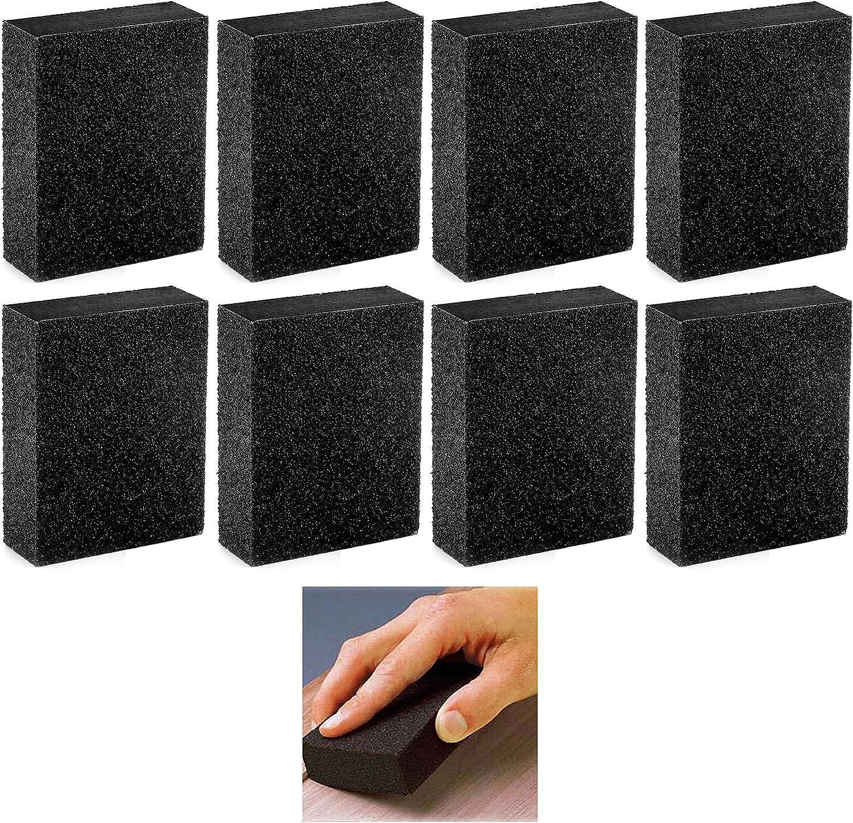 8 Pc Reusable 80 Grit Sand Sanding Elegant Dual Block Polishing Sale price Sponge B