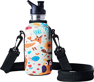 BBBYO Neoprene Insulated Water Bottle Holder Bag Case Pouch Carry Cover for Klean Kanteen - Fits 18oz/530ml and 27oz/800ml Klean Kanteen Classic Steel Bottles. Bottle NOT Included