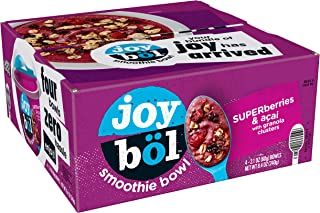 joyböl Smoothie Bowls, Superberries and Açai, Easy Breakfast, Non-GMO, 4 Count