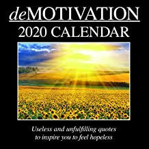 2020 Wall Calendar - Demotivation Calendar, 12 x 12 Inch Monthly View, 16-Month, Funny Quotes Theme, Includes 180 Reminder Stickers