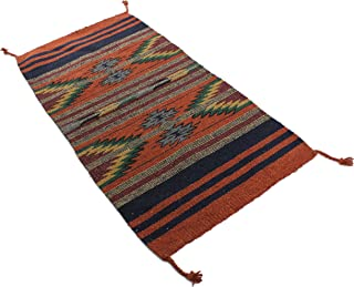 Onyx Arrow Southwest Décor Area Rug, 20 x 40 Inches, Pueblo Pattern Rust/Multi