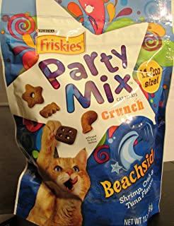 Friskies Party Mix Beachside Crunch Cat Treats with Shrimp, Crab and Tuna Flavors, 11.2 Oz