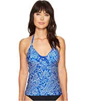 Nautica - Cottage Paisley Lace-Up Tankini Top