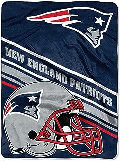 Northwest NFL New England Patriots 60x80 Raschel Slant DesignBlanket, Team Colors, One Size
