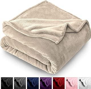 Bare Home Microplush Fleece Blanket - Full/Queen - Ultra-Soft Velvet - Luxurious Fuzzy Fleece Fur - Cozy Lightweight - Easy Care - All Season Premium Bed Blanket (Full/Queen, Oyster)