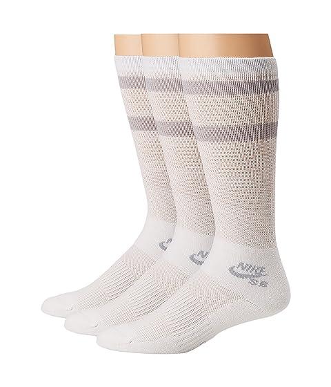 Crew de gris lobo blanco skate de calcetines Pack 3 pares Nike de Htwq88Bf