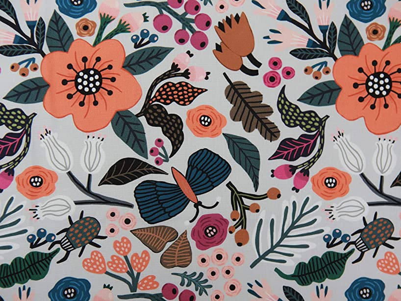 COTTONVILL MallangLuna Floral Forest Collection Cotton Quilting Fabric 3YD (Wildflower-1)