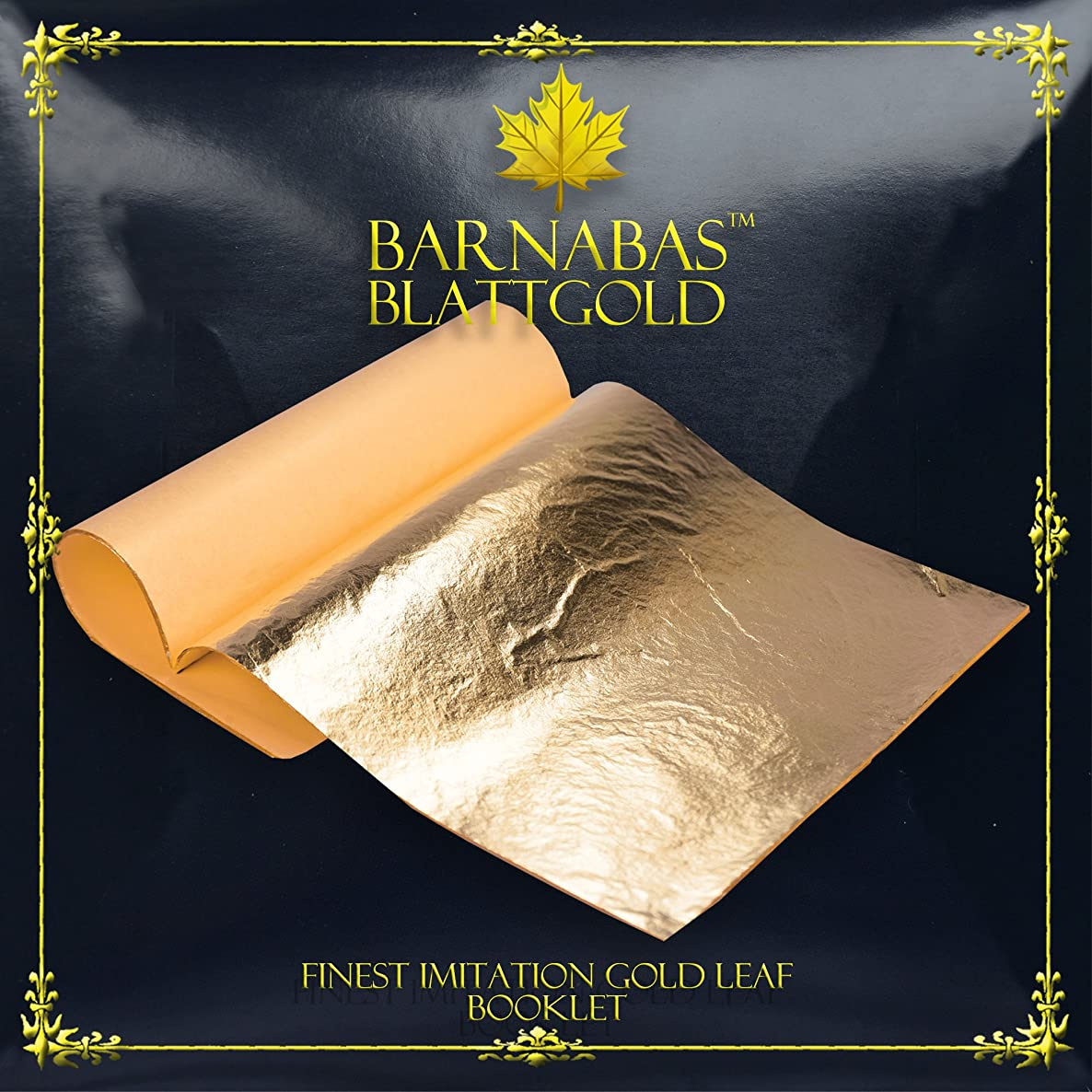 Imitation Gold Leaf Sheets - by Barnabas Blattgold - 100 Sheets - 5.5 inches Booklet - Loose Leaf