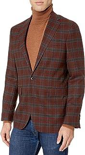 Cole Haan Men's Slim Fit Blazer, Brown, 42L