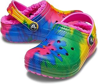 Crocs Kids Classic Tie Dye Lined Clog