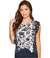 Lucky Brand - Mixed Print Ruffle Top