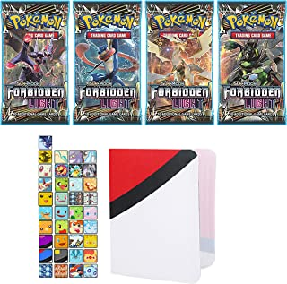 Totem World 1 Sun and Moon Forbidden Light Booster Pack with a Inspired Mini Binder Collectors Album for Pokemon Cards