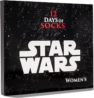 12 Days of Socks Advent Calendar Women's Star Wars Princess Leia Casual Socks (Size 4-10)