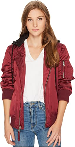 9d336827e8b5d Lucky brand quilted bomber jacket, Clothing | Shipped Free at Zappos