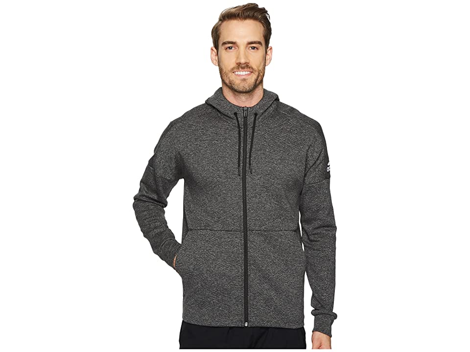 adidas Sport ID Stadium Full-Zip Hoodie (Stadium Heather/Black) Men