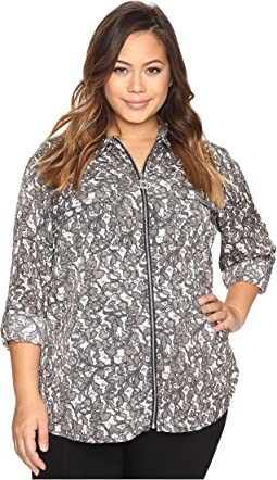 Plus Size All Over Umbria Dog Tag Top