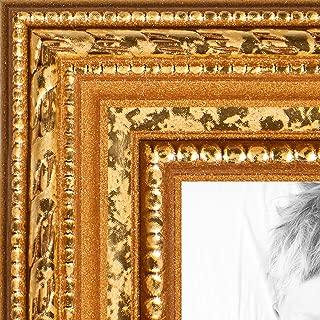ArtToFrames WOM80801-GLD-13x19 Barnwood Wood Picture Frame, 13 x 19, Gold