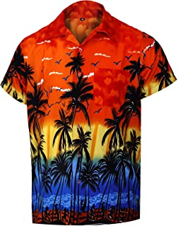 Virgin Crafts Hawaiian Shirts for Men Casual Button Down Short Selvee Beach Party Alloha Shirt
