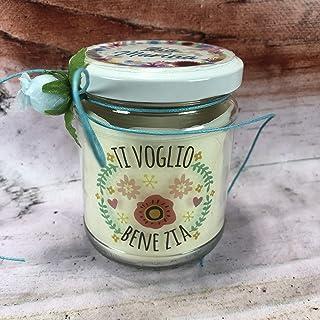 Ti voglio bene zia candela personalizzata in cera di soia e olio essenziale con stoppino in legno idea regalo festa della ...