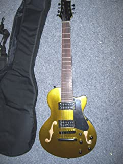 7 String Electric Guitar with sami hollow Body, with case