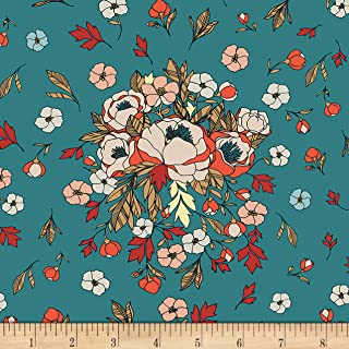 Art Gallery Love Story Soulmate Blooms Lust Fabric by The Yard