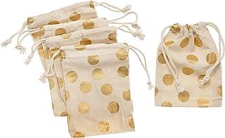 Darice 30030322 Fabric Party Bag, 5 Piece