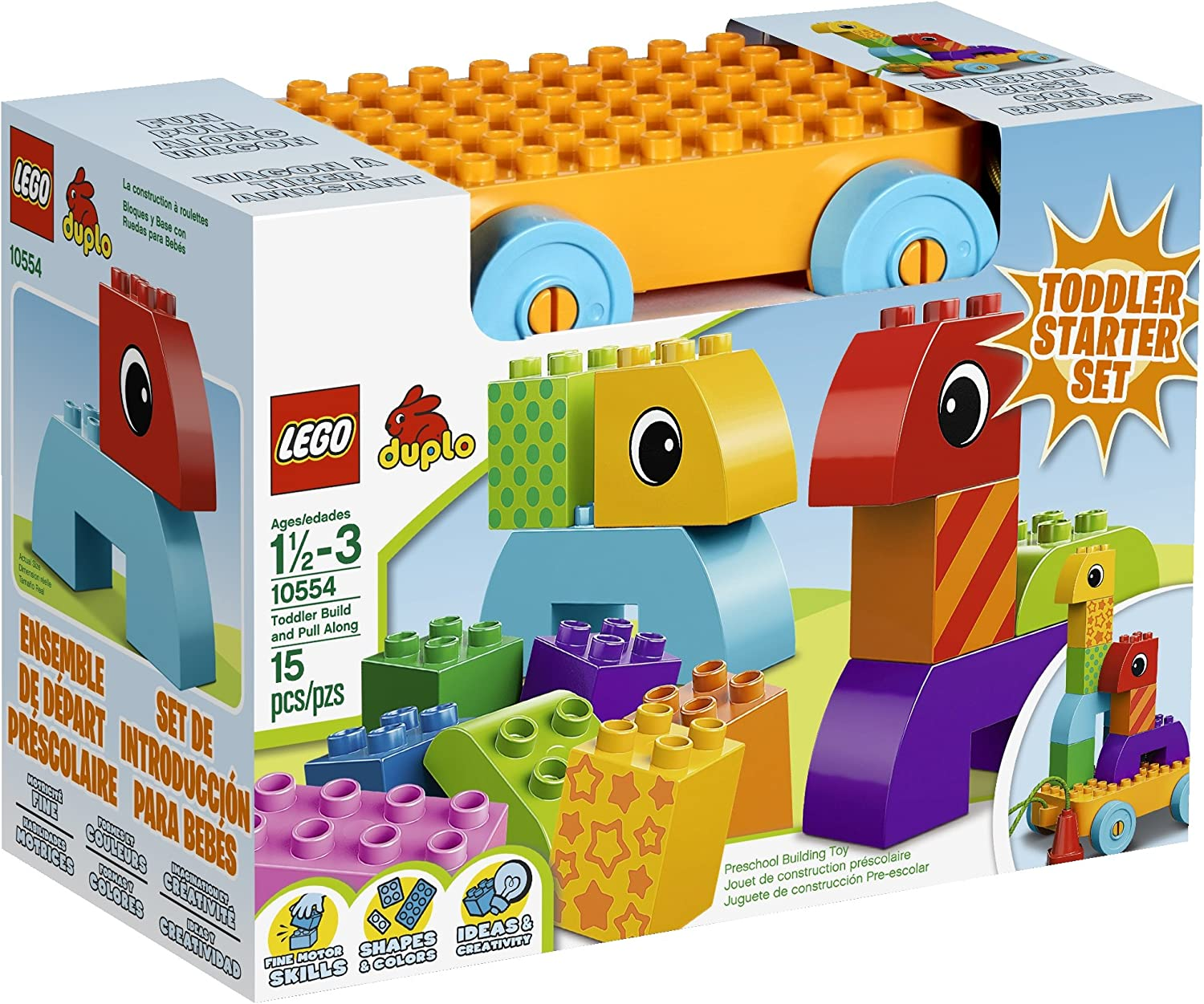 LEGO DUPLO Toddler Build and Pull Along Building Set 10554 by LEGO