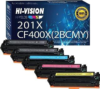 HI-Vision Compatible Toner Cartridge Replacement for HP CF400X CF401X CF402X CF403X (5 Pack) Works with Color Laserjet Pro...