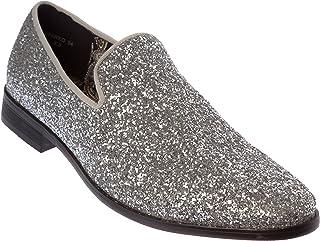 Alberto Fellini Mens Loafer-Fashion Slip-On Sparkling-Glitter Dress Shoes 41936b9f47c6