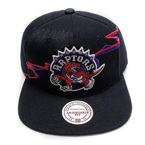 0e3bcead49e Mitchell   Ness Toronto Raptors Current Black HWC Vintage Solid Wool  Classic Adjustable Snapback Hat NFL