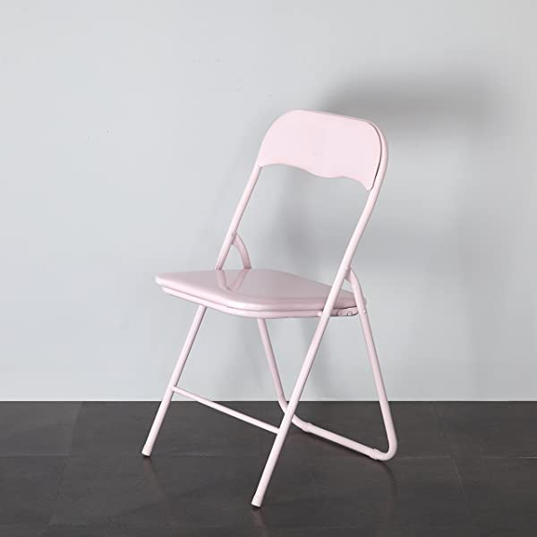 Urban Shop MS D3 001 404 Padded Folding Chair Adult Blush
