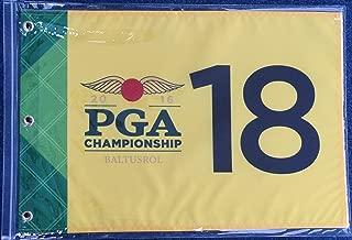 Baltusrol golf flag yellow 2016 PGA Championship golf tournament pin flag
