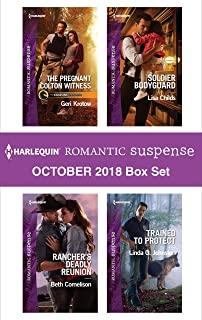Harlequin Romantic Suspense October 2018 Box Set: The Pregnant Colton WitnessRancher's Deadly ReunionSoldier BodyguardTrained to Protect