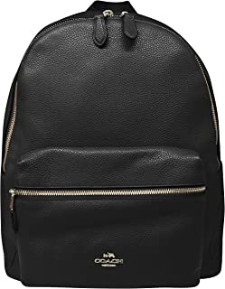 Coach Charlie Pebble Leather Backpack F38288