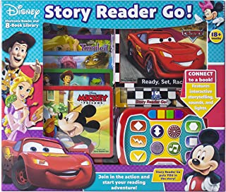 Disney - Mickey, Minnie, Toy Story and More! Story Reader Go! Electronic Me Reader and 8-Book Library - PI Kids