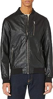 Jack & Jones Men's Jjflake Bomber Faux Leather Jacket