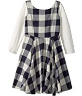 fiveloaves twofish - Flannel Fit N Flare Dress (Big Kids)