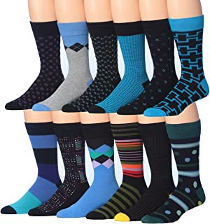 d0b51b64dcd James Fiallo Mens 12 Pack Patterned Dress Socks